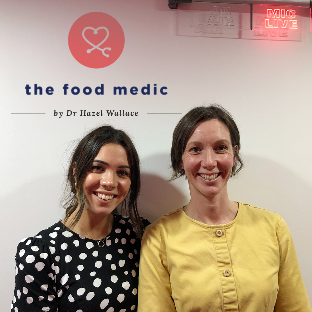 Louise and Hazel on the food medic podcast
