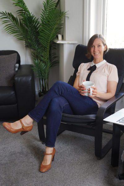 dietitian in a chair