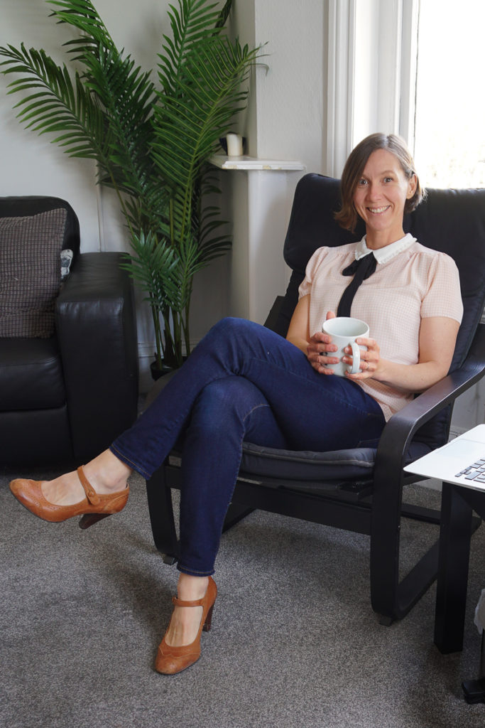 dietitian in a chair